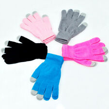 Touch Screen Gloves Smartphone Texting Stretch Adult One Size Winter Knit opus