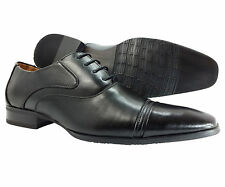 Mens Dress Shoes E&GFashion Black Oxford Italian Leather Lining Style