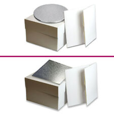 Cake Board and Box Set - Round / Square - Sizes 8 inch - 15 inch - FREEPOST