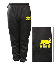 MEN WOMEN PRINTED BEER DEER BEAR JOKE FUNNY FLEECE JOGGER DRAWSTRING SWEAT PANTS