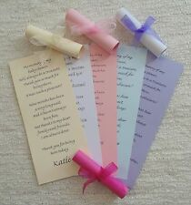 Baby Shower Thank You Scroll Cards - Favour - Personalised - Cumstomised