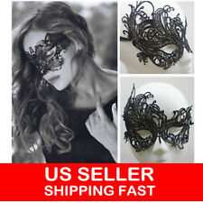 SEXY PARTY eye FACE MASK VENETIAN MASQUERADE Ball PROM HALLOWEEN COSTUME BLACK
