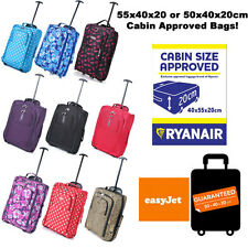 """Lightweight Small 21"""" Wheeled Hand Luggage Trolley Cabin Flight Bag Suitcase"""