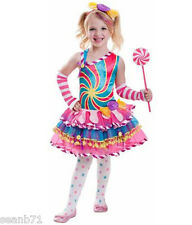 Candy Girl Costume Lolliipop Fairy Child Dress Up Kids Halloween S M L