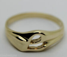 KAEDESIGNS, GENUINE, SOLID YELLOW OR ROSE OR WHITE GOLD 375 LARGE INITIAL RING L
