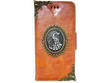 Vintage Peacock Wallet Leather Pouch Case Cover For LG Optimus G2 G3 G4 NA Brown
