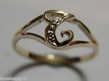 KAEDESIGNS, GENUINE, SOLID YELLOW OR ROSE OR WHITE GOLD 375 INITIAL RING T
