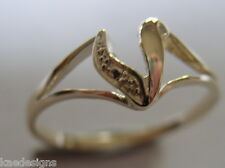 KAEDESIGNS, GENUINE, SOLID YELLOW OR ROSE OR WHITE GOLD 375 INITIAL RING V