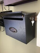 JHC Town house - #4038 WALL MOUNT MAILBOX with Lock -BRONZE, Black - Wholesale