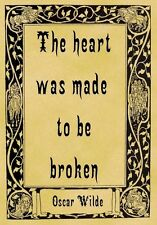 A4 Parchment Poster Oscar Wilde Quotation - ILLUSION - Greeting Card Option