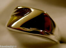 KAEDESIGNS, GENUINE, SOLID YELLOW OR ROSE OR WHITE GOLD 375 LARGE INITIAL RING Z
