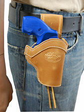 """NEW Barsony Tan Leather Western Belt Loop Holster Ruger 22 38 357 Snub Nose 2"""""""