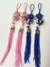 multiple colors Chinese Knot Feng Shui Lucky Charm with Lucky small bell new