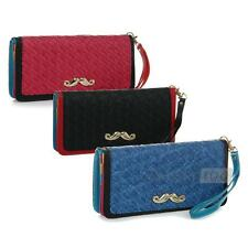 Women Clutch Bag Purse Pouch Wallet PU Cards Holder Large Capacity Chic