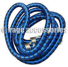 BUNGEE CORD STRAP 180cm HEAVY DUTY WITH HOOKS ELASTICATED ROPE STRETCH TIE 1.8m