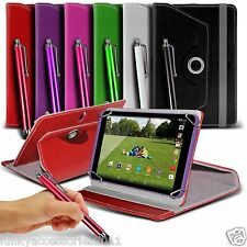 "360° Rotating Luxury PU Leather Spring Stand Case Cover+Pen Swivel - 8"" Tablets"
