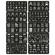 10 Style Steel plate Nail Art Image Stamp Stamping Plates Manicure Template HOT