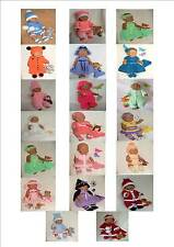 Carol Ann Designs Doll Knitting Patterns Numbers *1 to *21 (Baby Born Size)