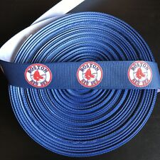 "7/8"" Boston Red Sox Grosgrain Ribbon by the Yard (USA SELLER!)"