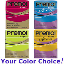 PREMO! oven-bake polymer modeling clay 2 oz (57g) YOUR COLOR CHOICE