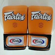 FAIRTEX MUAY THAI KICK BOXING GLOVES TGT7 ORANGE BLACK COLOR SPARRING BAG GLOVE