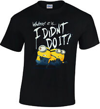 Despicable Me Minion I Didn't Do It T-Shirt 100% Cotton Free Shipping Gildan