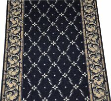 Trellis Black Washable Non-Skid Carpet Rug Runner