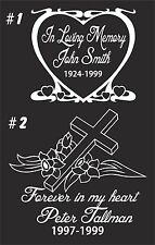 IN LOVING MEMORY CAR WINDOW DECAL..CUSTOMIZED FOR YOU #6