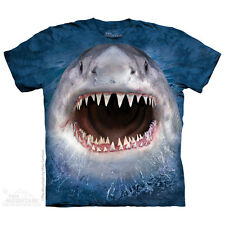 Wicked Nasty Shark T-Shirt by The Mountain. Big Face Aquatic Sizes S-5XL NEW