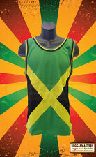 JAMAICA FLAG VEST TOP *REGGAE ROOTS ONE LOVE BASKETBALL TOP *FAST POST V1