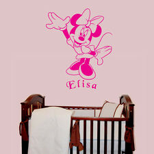 Minnie Mouse - Personalised with a name of your choice - Children's Wall Decal
