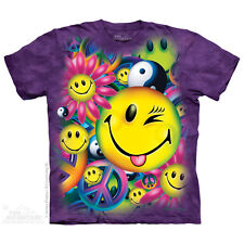 Peace & Happiness T-Shirt by The Mountain. Tie Dye and Peace Sizes S-5XL NEW