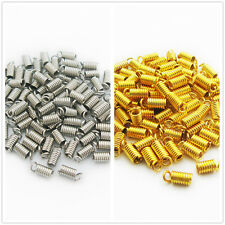 Free shipping 100PCS Nickel/Gold Spring end clasps Connector Clasps 8x4MM