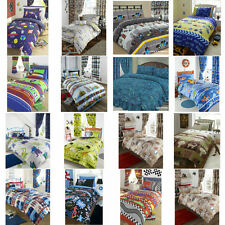 TRENDY NEW BOYS SINGLE BED NOVELTY THEMED DUVET COVER BED SETS OR CURTAINS