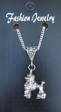 "18"" or 24 Inch Necklace & Poodle Dog Pendant Charm Animal Lovers Caniche Barbon"