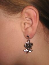 Pair ROSE  Earrings dangle hooks or studs ***UK made*** Free 1St Class Post***