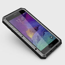 N Metal Gorilla Glass Shock Water Proof Case Cover F Samsung Galaxy NOTE 4 N9100