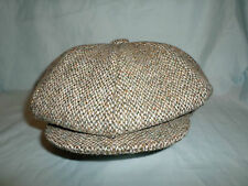 GREEN HARRIS TWEED HAT BAKER BOY NEWSBOY GATSBY VICTORIAN PEAKY BLINDERS CAP