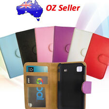 PREMIUM QUALITY LEATHER WALLET BOOK COVER CASE WITH CARD POUCHES FOR HTC  MODELS