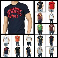 New Abercrombie by Hollister Men A&F HERITAGE TEE Short Sleeve Muscle Fit Size