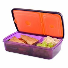 Fit & Fresh Soft Touch Bento Lunch Box (3 Compartments, Kids or Adults)