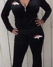 NEW-DENVER BRONCOS-VELOUR-SWEAT SUIT-JUMPSUIT-SWEATER-PANTS-SHIRT-JERSEY-T