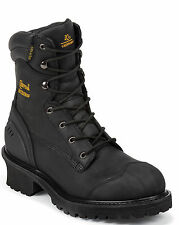 Chippewa Mens Black Oiled Waterproof Insulated Boot Comp 55058 Extra Wide