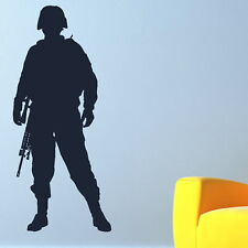 ARMY MAN MILITARY SOLDIER wall sticker art decal graphic transfer mural car bn17