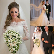 2015 Stunning White Lace Wedding Dress Vestidos De Noiva Size 2 4 6 8 10 12 14++