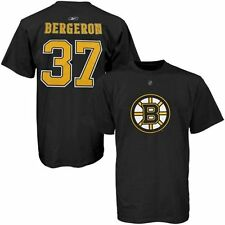 PATRICE BERGERON #37 Reebok Name and Number YOUTH BOYS 8-20 Black T-Shirt