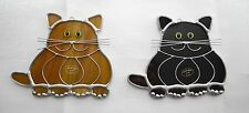 Made-in-the-USA Stained Glass Fat Cat Sun Catcher by Renaissance Glass Studio