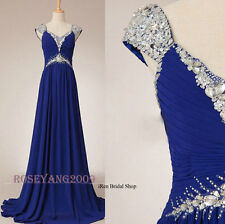 New Straps Long A-line Chiffon Evening Party Dress Formal Bridesmaid Ball Gowns