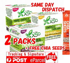 TWIN PACK 2 x GREEN TEA X50 60 SERVES TRIBECA HEALTH FREE CHIA SEEDS 120 DOUBLE