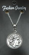 "18"" or 24 Inch Chain Neckace & Alexander the Great Pendant Charm Greek Greece"